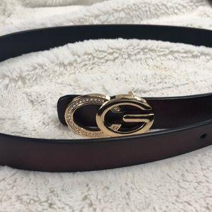 Ladies belt, brown size medium